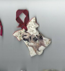 Cairn Terrier Dog Ceramic Hand Made Xmas Decoration - NEW - MUST L@@K!