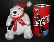 COCA-COLA Polar Bär aus der Dose ORIGINAL 1999 EISBÄR Plush Design WEIHNACHTEN
