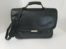 HARTMANN Black Leather Professional Shoulder Briefcase Bag Computer case