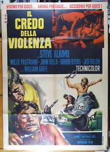 manifesto 2F film THE WILD REBELS - IL CREDO DELLA VIOLENZA bikers Hells Angels