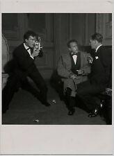 Photo Walter Carone - Autoportrait avec Jean Cocteau et Joseph Cotten Paris 1948