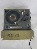 Audiotronics 312VT Portable, Suitcase Built in Speaker Record Player. Vintage.