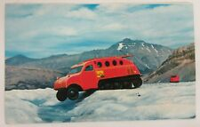1950's Bombardier Snowmobile Snow Bus Postcard - Canadian Ice Fields