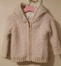 Girls Age 18-24 Months - M&S - Fluffy Hooded Jacket.