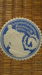 altes Etikett: Landwirtschaftsausstellung 1899