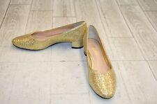 J. Renee Bambalina Pumps - Women's Size 8M, Gold Glitter
