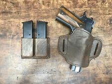 Colt 1911 Bison Leather Combo holster and mag pouch exclusive