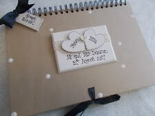 Personalised Handcrafted A4 Wedding Guest Book Photo Album Scrapbook QUICK POST