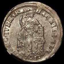 1701 Netherlands Gelderland One Gulden Silver Coin - NGC AU 58 - KM# 65.265.2