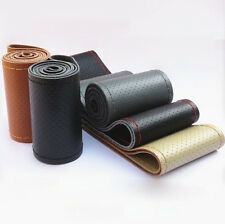 Universal DIY Car Steering Wheel PU Leather Cover Case With Needle and Thread