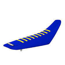 2007-2009 SUZUKI RMZ 250 BLUE/YELLOW RIBBED GRIPPER SEAT COVER  Enjoy MFG