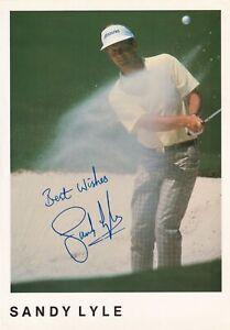 Sandy Lyle autograph hand signed photograph original Golfer golf Open Masters