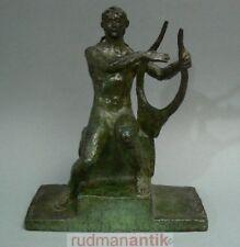 Ary Bitter bronze personnage assis Orpheus avec chanson Fonderie majolie Frs. cire perdue