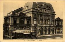 Cherbourg France CPA ~1920/30 Theatre Straßenpartie am Theater Café du Theatre