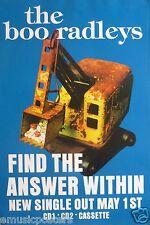 "BOO RADLEYS ""FIND THE ANSWER WITHIN - ORANGE STEAM SHOVEL"" U.K. PROMO POSTER"