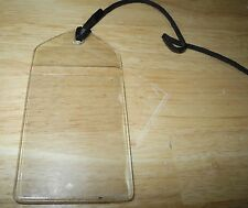 1984 Apple Macintosh Clear Plastic Hang Tang Card Holder for Mac 128K Carry Case