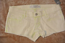 NWT Abercrombie & Fitch Women short  shorts Low Rise Lime green 2 26W