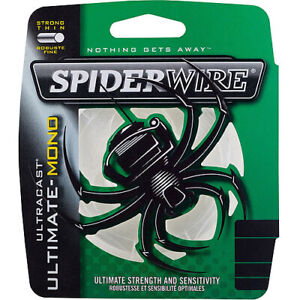 Spiderwire Ultracast Ultimate-Mono Filler Fishing Line, 8 Lb, 330 Yd, Clear