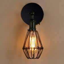 Retro Industiral Indoor Metal Cage Wall Lights Sconce Lamp Light Fittings E27