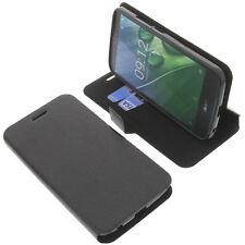 Tasche für Acer Liquid Zest Plus Smartphone BookStyle Schutzhülle Buch Schwarz