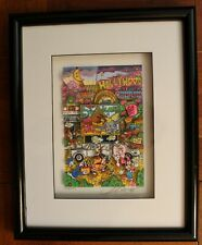 Charles Fazzino Disneyland California Signed Numbered Framed 3D