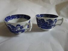 One Vintage Ceramic Blue & White Willow Pattarn Tea Cup By Wood & Sons England