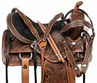 HORSE SADDLE WESTERN TRAIL BARREL RACER SHOW ANTIQUE LEATHER TACK 16 17 18