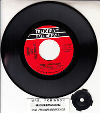 "SIMON AND GARFUNKEL  Mrs. Robinson 7"" 45 rpm record NEW + juke box title strip"