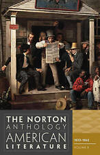 The Norton Anthology of American Literature: 1820-1865 v. B, Good Condition Book