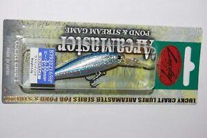 """lucky craft b'freeze 65sp long bill 2.4"""" 3/16oz suspending jerkbait chrome blue"""