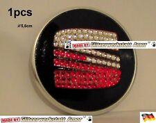 1pcs Auto KFZ Car Lenkrad Logo Emblem Guss >Einzelstück by Amor* Siamrot-Crystal