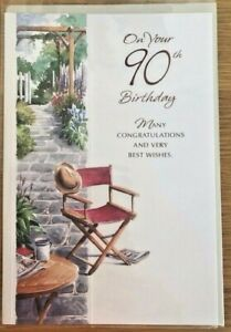 On Your 90th Birthday - Many Congratulations & Very Best Wishes