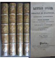 Le livre noir de messieurs Delavau et Franchet Police restauration Vidocq