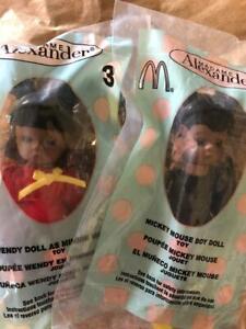 "NEW MICKEY/MINNIE MOUSE Madame Alexander 5"" McDonalds Figure Black AA Dolls-NIP"