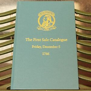 Modern Printing of CHRISTIE'S The First Sale Catalogue of 1766