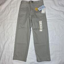 Cat & Jack Boys Pants School Uniform Straight Leg Adj Waist Reinforced Knee Sz 5