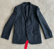 "Hugo Boss Abous Blazer Jacket Tailored Charcoal Grey EU 50, 40"" Chest New"