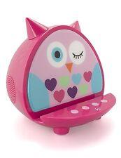 KitSound My Doodles Child Friendly Character Dock Wireless Bluetooth Speaker-Owl