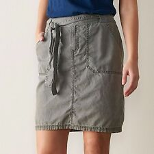 Sonoma Utility Skirt Womens 10 12 14 16 Tan Green or Gray 4-Pocket NEW $32