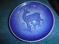 Bing & Grondahl Mother's Day Plate 1975  Deer Doe Fawn