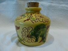 B. & L. Breininger Pottery Decorated Seed Bottle with Cork Flowers 1982 Keystone