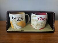 Starbucks Demitasse Mugs Set of 2 China Beijing Collector Series 2016 3oz Mini