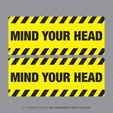 Mind Your Head Warning  - Safety Notice Sticker - Business - Workshop - SKU5304