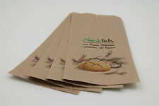 1000 Bäckerbeutel Faltenbeutel Bäckertüten, 14+6x32cm, Nr. 423, braun Natürlich