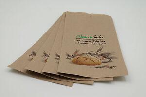 1000 Bäckerbeutel Faltenbeutel Bäckertüten, 14+6x28cm, Nr. 422, braun Natürlich