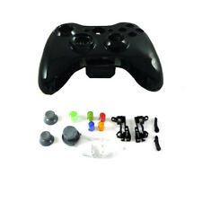 Xbox 360 - POLISH BLACK Controller Mod Shell w/ Buttons (Housing Part)