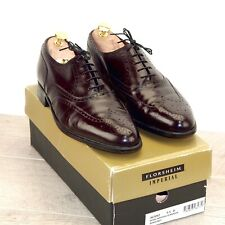 Worn Once * $260 Florsheim ROYAL Imperial 9.5 D  * new Trees original Box & Bags