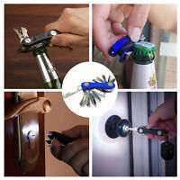 Folding 12 Key Holder Organiser Smart Compact with LED Lights & Bottle Opener NW