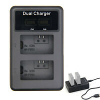 USB LCD Dual NP-FW50 Battery Charger For Sony Alpha A6000 A6300 A6500 A7R A7 NEX
