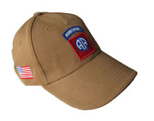 Casquette Baseball 82 nd AIRBORNE Couleur Sable,Air soft, paintball